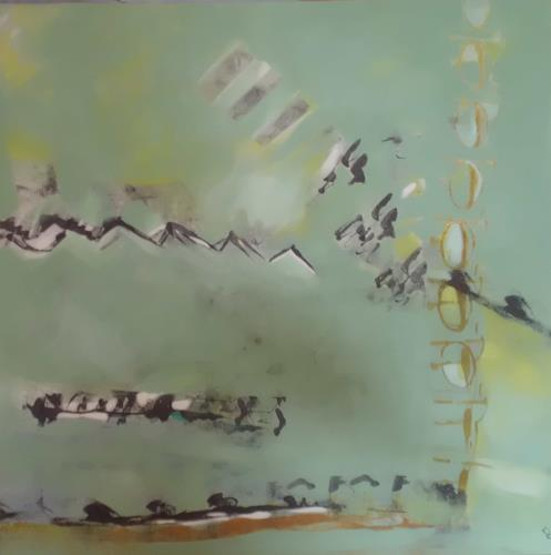Karin Kölli, Signs, Abstraktes, Diverse Gefühle, Expressionismus