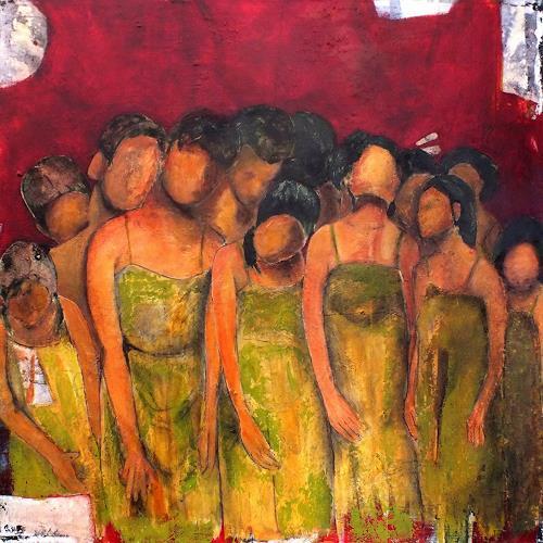 Frauke Klinkforth, Zusammen, Menschen, Gefühle: Geborgenheit, Gegenwartskunst, Abstrakter Expressionismus