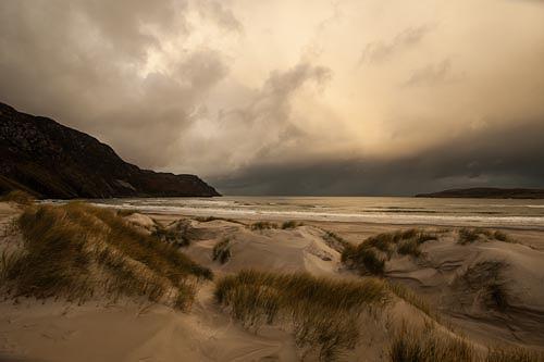 Helga Nerad, Irland Maghera, Landschaft, Landschaft: Strand, Expressionismus