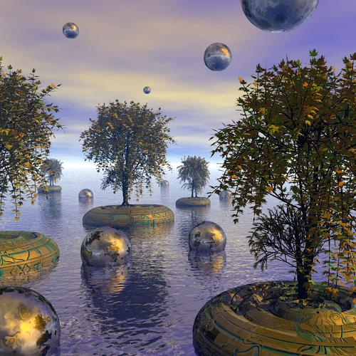 diuno, Weltnaturerbe, Fantasie, Natur: Wald, Postsurrealismus, Abstrakter Expressionismus