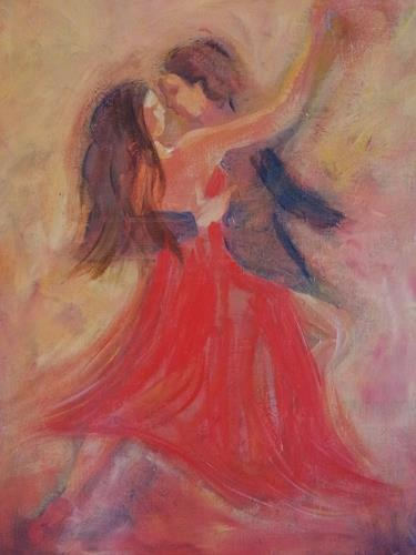 Elke Hildegard Qual, Tangopaar, Bewegung