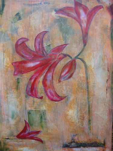 Elke Hildegard Qual, Amaryllis magenta, Pflanzen: Blumen