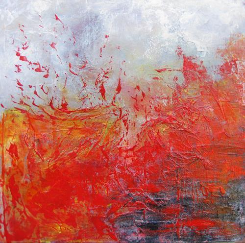 Elke Hildegard Qual, Vulkanausbruch, Abstraktes