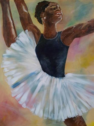 Elke Hildegard Qual, Balletdancing, Bewegung, Konkrete Kunst