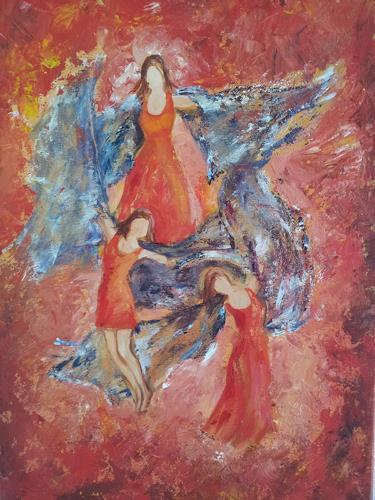 Elke Hildegard Qual, Tänzerinnen, Menschen: Gruppe, Neue Sachlichkeit