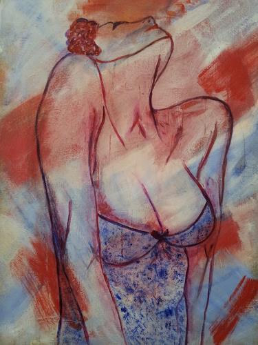 Elke Hildegard Qual, O/T, Menschen: Frau, Neue Wilde, Expressionismus
