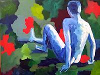 Elke-Hildegard-Qual-Akt-Erotik-Akt-Mann-Gegenwartskunst-Postmoderne