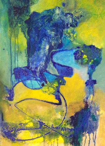 Elke Hildegard Qual, Flußdelta, Abstraktes, Neue Wilde