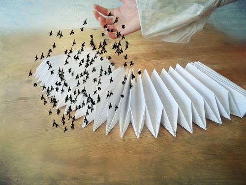 Heike Hultsch, Die Vögel, Skurril, Abstraktes, Surrealismus, Abstrakter Expressionismus