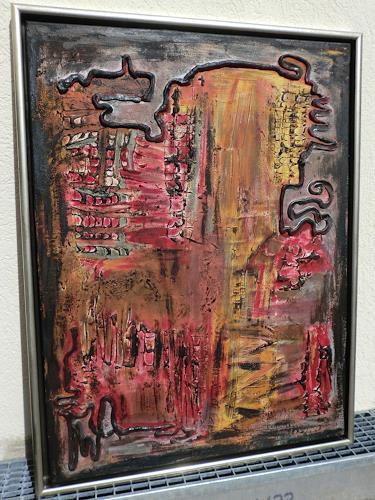 Roland Ehmig, Blut und Asche, Abstraktes, Fantasie, Abstrakte Kunst