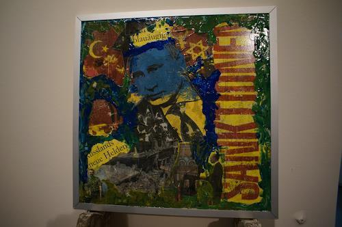 Roland Ehmig, Collage Mr.Putin, Geschichte, Krieg, Gegenwartskunst