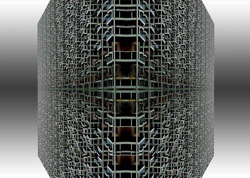 Klaus Bittner, dead-city-05, Architektur, Bauten: Haus, Postmoderne, Abstrakter Expressionismus