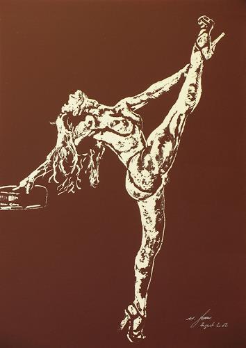 Ulrich Herren, 380 # Gestreckt.jpg, Sport, Naturalismus, Abstrakter Expressionismus