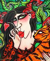Anastasia-May-Menschen-Frau-Tiere-Land-Moderne-Pop-Art