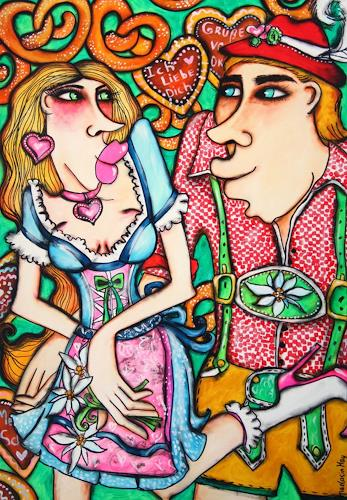 Anastasia May, Ich liebe Dich, Menschen: Paare, Gefühle: Liebe, Pop-Art, Expressionismus