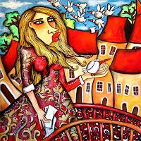 Anastasia-May-Menschen-Frau-Dekoratives-Moderne-Pop-Art