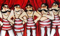 Anastasia-May-Humor-Menschen-Gruppe-Moderne-Pop-Art