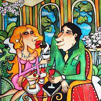 Anastasia-May-Menschen-Paare-Dekoratives-Moderne-Pop-Art