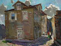 Juliya-Zhukova-Bauten-Haus-Landschaft-Sommer-Neuzeit-Realismus