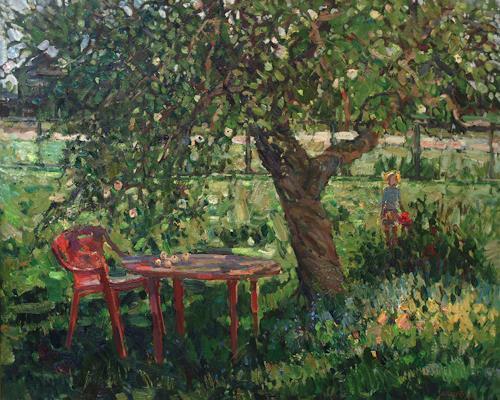 Juliya Zhukova, When the trees are big, Landschaft: Sommer, Menschen: Kinder, Impressionismus, Expressionismus