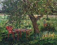 Juliya-Zhukova-Landschaft-Sommer-Menschen-Kinder-Moderne-Impressionismus