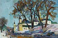 Juliya-Zhukova-Landschaft-Winter-Architektur-Neuzeit-Realismus