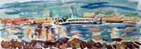 Juliya-Zhukova-Landschaft-Strand-Natur-Wasser-Moderne-Impressionismus-Postimpressionismus