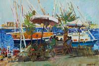 Juliya-Zhukova-Menschen-Landschaft-Tropisch-Moderne-Impressionismus
