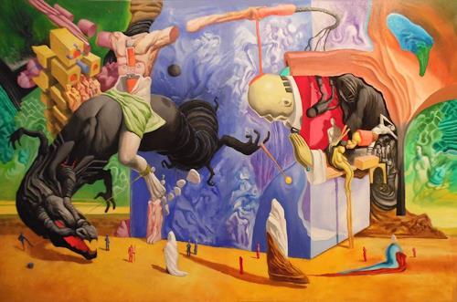 Dimitri Wall, O/T, Fantasie, Glauben, Abstrakter Expressionismus