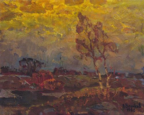 BelS, Dull evening, Landschaft: Sommer, Realismus, Expressionismus