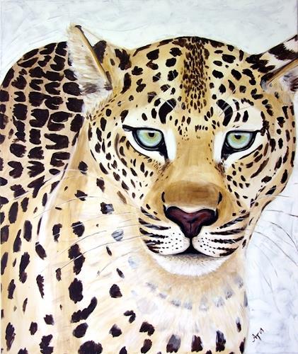 Annett Tropschug, Der Leopard, Tiere: Land, Diverse Tiere, Gegenwartskunst