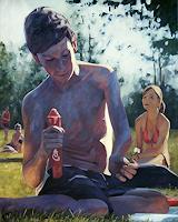 Daniel-Wimmer-Menschen-Kinder-Menschen-Mann-Moderne-expressiver-Realismus