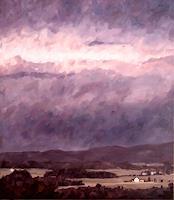 Daniel-Wimmer-Landschaft-Berge-Landschaft-Herbst-Moderne-Impressionismus-Neo-Impressionismus