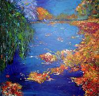 Hiltrud-Schick-Pflanzen-Baeume-Natur-Wasser-Moderne-Impressionismus