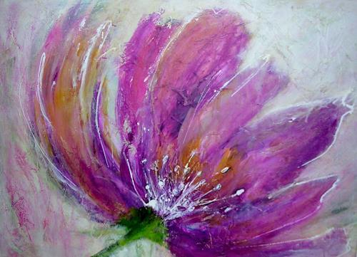 Hiltrud Schick, lila Pracht, Pflanzen: Blumen, Natur, Gegenwartskunst