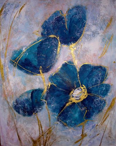 Hiltrud Schick, Blumenfreude, Pflanzen: Blumen, Natur: Diverse, Gegenwartskunst, Expressionismus