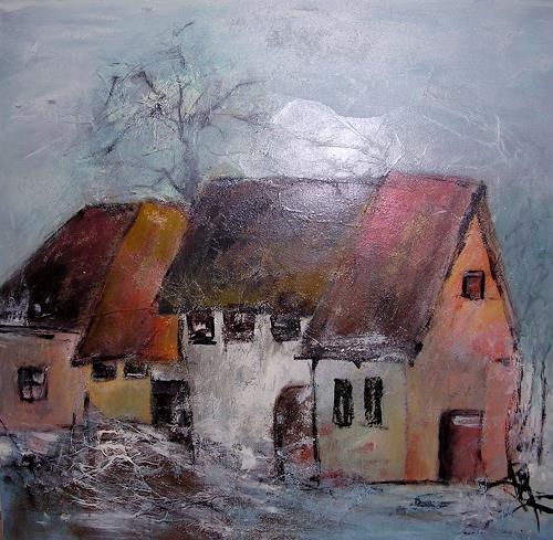 Hiltrud Schick, Gehöft, Bauten: Haus, Wohnen: Dorf, Impressionismus