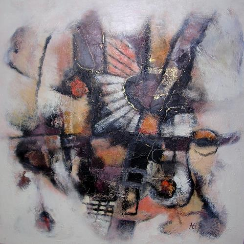 Hiltrud Schick, Goldenrausch, Abstraktes, Dekoratives, Gegenwartskunst