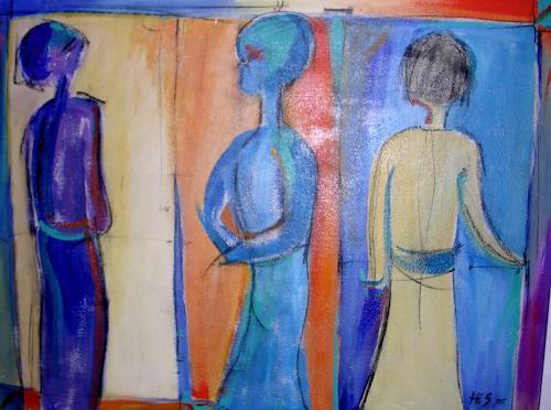 Hiltrud Schick, modern Art, Abstraktes, Menschen, Gegenwartskunst