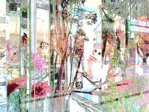 Catrin Mueller, CLAIRES MEMORY, Abstraktes, Diverse Pflanzen, Gegenwartskunst, Expressionismus