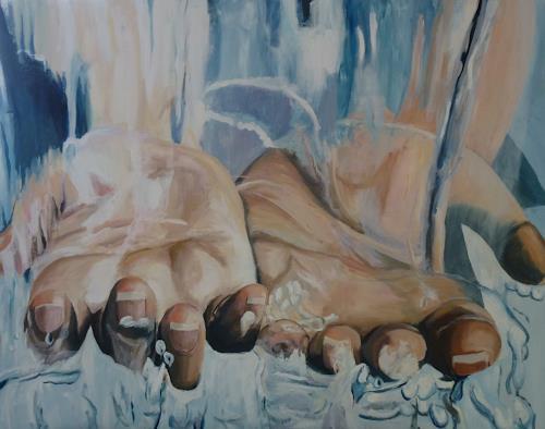 Ruth Tellenbach, Erfrischung, Menschen, Diverses, Konkrete Kunst, Expressionismus
