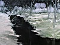 H. Lehmann, ruisseau silencieux en robe d'hiver_