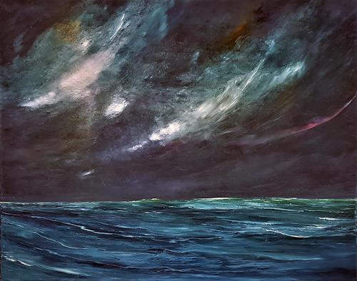 Henri Lehmann, Golfe de Gascogne (Biskaya), Landschaft: See/Meer, Gegenwartskunst, Abstrakter Expressionismus