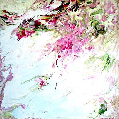 Marion Bellebna, Im Sommerwind, Pflanzen: Blumen, Fantasie, expressiver Realismus