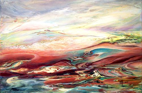 Marion Bellebna, Verweht, Abstraktes, Fantasie, Abstrakte Kunst, Expressionismus