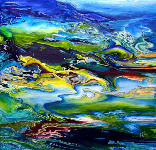 Marion Bellebna, Fjord II, Landschaft, Natur, Gegenwartskunst