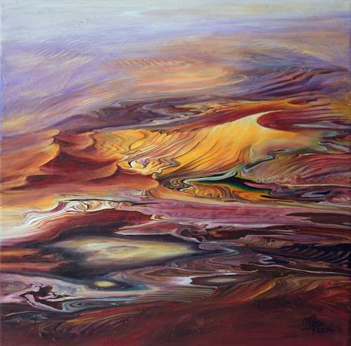 Marion Bellebna, Symphonie de sable, Diverse Landschaften, Natur: Erde, Gegenwartskunst, Expressionismus