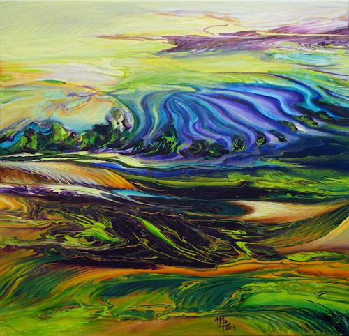 Marion Bellebna, Natur abstrakt 22, Natur, Landschaft, Gegenwartskunst, Expressionismus
