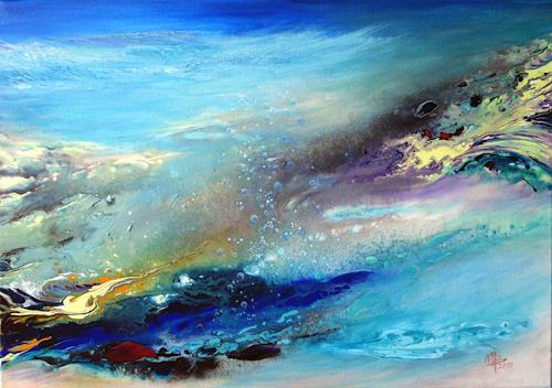 Marion Bellebna, Aqua IV, Fantasie, Natur, Gegenwartskunst, Expressionismus