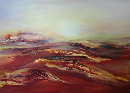 Marion Bellebna, Natur abstrakt 26, Natur, Fantasie, Gegenwartskunst, Expressionismus